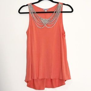 Anthropologie Leifnotes Braided Scalloped Tank